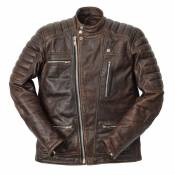 Blouson cuir Ride And Sons EMPIRE Cow Skin marron- S