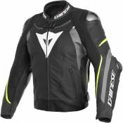 Dainese Super Speed 3 Leather 50 Black / Matt Grey / Fluo Yellow
