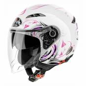 Casque jet Airoh City One Heart blanc - M