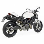 Double silencieux Leovince LV One Evo full carbone pour Ducati Monster