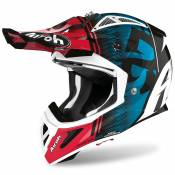 Casque cross Airoh AVIATOR ACE - KYBON - BLUE RED GLOSS 2021