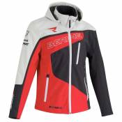 Bering Softshell Racing S Grey / Red / White