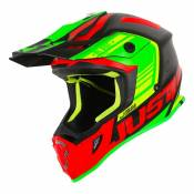 Casque cross Just1 J38 Blade rouge / lime / noir - XS