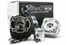 Cylindre culasse Stage6 70cc StreetRace fonte MBK Ovetto / Neo's