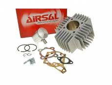 Cylindre piston d.44mm Airsal Alu 65cc Puch Maxi (petites ailettes)