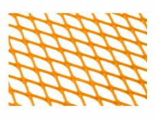 Grille déco STR8 Racing petit maillon (30x30cm) orange fluo