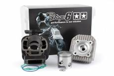 Cylindre culasse Stage6 70cc StreetRace fonte MBK Booster / Stunt