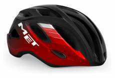 Casque route met idolo glossy rouge noir metallise 2021 l 60 64 cm