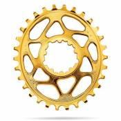 Absolute Black Plateau Oval Sram Direct Mount Boost 3 Mm Offset 30t Gold