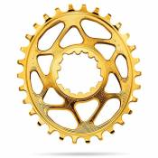 Absolute Black Plateau Oval Sram Direct Mount Gxp 6 Mm Offset 28t Gold