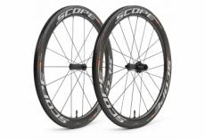 Paire de roues scope r5c carbon 55 mm tubeless largeur 26 mm 9x100 9x130mm shimano sram