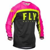 Fly Racing T-shirt Manche Longue F-16 2020 XL Fluo Pink / Black / Fluo Yellow