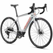 Specialized Vélo Électrique Route Turbo Creo Sl Comp Carbone M Gloss Dove Gray / Gold Ghost Pearl / Rocket Red