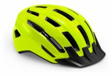 Casque met downtown jaune fluo noir brillant 2021 xs m 52 58 cm