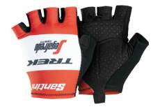 Paire de gants courts trek by santini team trek segafredo rouge 2019 s