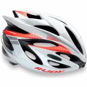 Casque Rudy Rush Blanc Rouge fluo