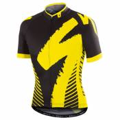 Maillot Specialized Comp Racing Noir Jaunes Fluo