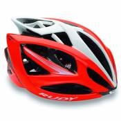 Casque Rudy Airstorm Rouge Fluo Blanc