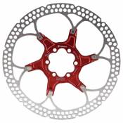 Formula Two Pieces Brake Disc With Bolts 180 mm Red