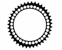 Rotor plateau route q rings triple 40 dents 130mm bcd noir