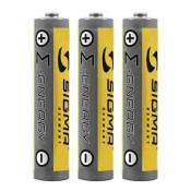 Charge et données Sigma Kit 3 Batteries Type Aaa