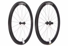 Paire de roues route asterion sport 55 pneu tubeless ready 9x100 mm 9x130 mm shimano sram