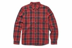 Chemise manches longues etnies ruskin flannel rouge navy bleu s