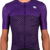 Sportful Maillot Manches Courtes Checkmate M Violet