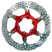 Formula Two Pieces Brake Disc With Center Lock 180 mm Red / Silver