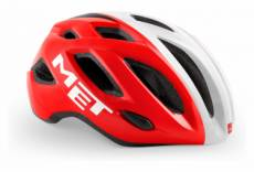 Casque met idolo rouge blanc brillant xl 60 64 cm