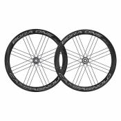 Campagnolo Paire Roues Route Bora One 50 Dark Disc Tubular 12 x 100 / 12 x 142 mm Black