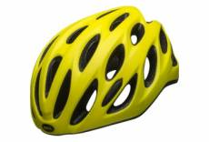 Casque route bell tracker r jaune fluo