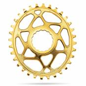 Absolute Black Oval Race Face Direct Mount 6 Mm Offset 34t Gold