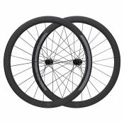 Black Inc Paire Roues Route Fifty Ceramicspeed Sc Hu-02 Shimano 12 x 100 / 12 x 142 mm Black