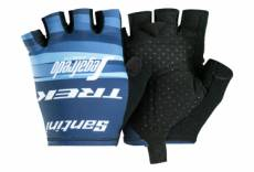 Paire de gants courts femme trek by santini team trek segafredo bleu 2019 xl