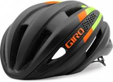 Casque Route Giro Synthe 2016 - Noir - Citron - Flamme