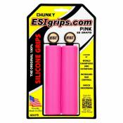 Poignées ESI Grips Chunky silicone 32 mm Rose