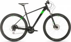 Cube Aim Race 29 Hardtail Mountain Bike 2020 - Black - Flashgreen - 48cm (19)\