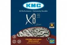 Chaine kmc x8 99 116 maillons gris