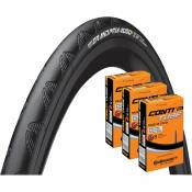 Continental Grand Prix 4000S II 28c Tyre + 3 Tubes