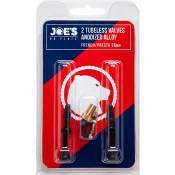 Kit de valve Joe's No Flats Tubeless Presta Alliage