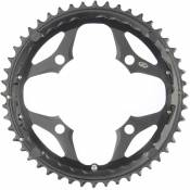 Plateau Shimano FC-M660 (argenté, 36 dents) - 48t 9 Speed Noir