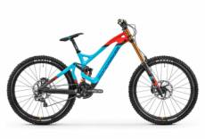 Vtt tout suspendu mondraker summum carbon pro team shimano saint 10v bleu orange 2020 s 160 170 cm