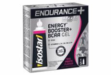Gels energetiques isostar endurance booster bcaa fruits rouges 5x20g