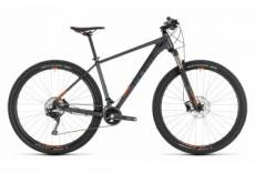 Vtt semi rigide cube acid 29 shimano slx xt 11v gris orange 2019 17 pouces 170 180 cm