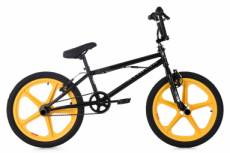 Bmx freestyle ks cycling xtraxx 20 noir jaune
