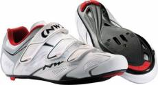 Chaussures Route Northwave Sonic 3S 2015 - Blanc/Rouge/Argent - EU 40.5
