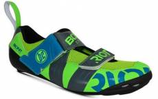 Chaussures Bont Riot TR+ Triathlon 2018 - Lime/Charcoal - EU 45