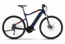 Vtc electrique haibike sduro cross 5 0 shimano deore xt 10v 500 wh 700 mm bleu orange 2020 s 155 165 cm