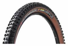 Pneu vtt hutchinson griffus racing lab 2 50 27 5 tubeless ready souple hardskin race ripost gravity flancs beiges tan ebike 2 50